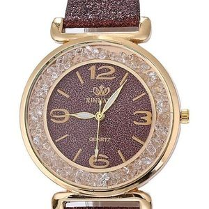 Accessories - Mocha Chocolate Rhinestone Glitter Bling Watch